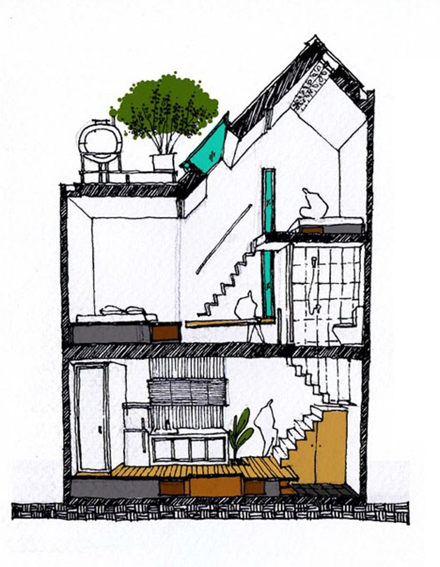 Japan House Drawing