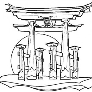 300x300 Japan Flag Coloring Page Coloring Sky