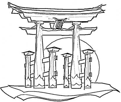 416x350 Japanese House Coloring Pages Japanese House