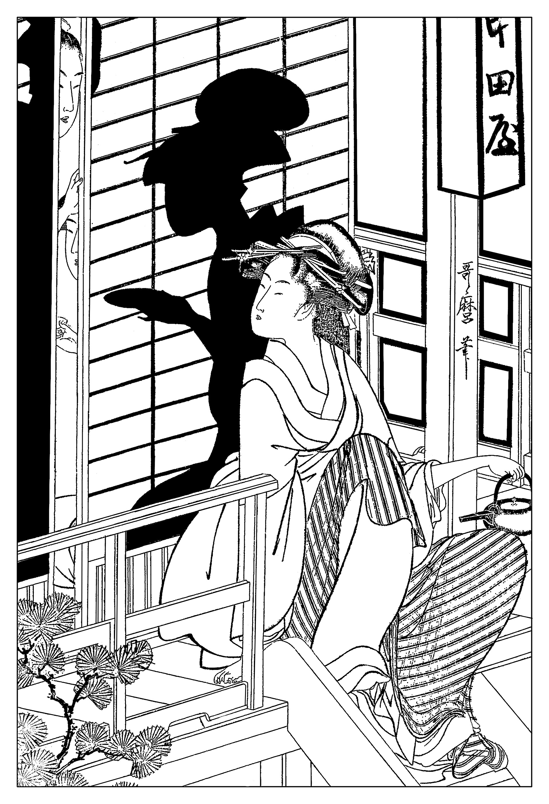 1918x2809 Tea Houses Coloring Pages Art Coloring Pages For Adults