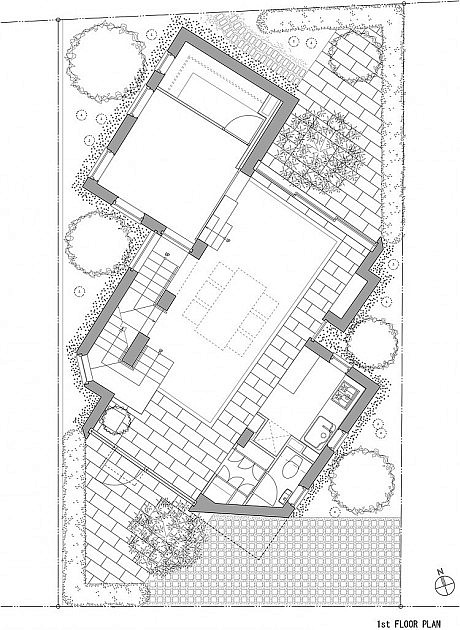 460x630 House I By Asai Architects Plan House, By