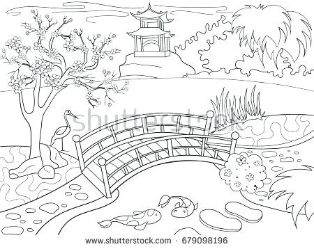 Japan Landscape Drawing at GetDrawings.com | Free for personal use ...