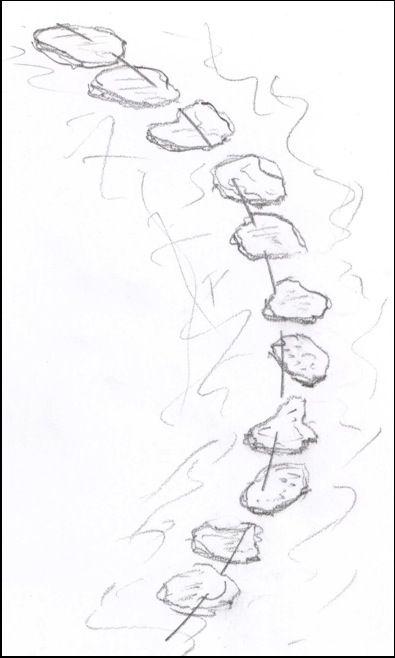 395x658 Japanese Garden Stepping Stones
