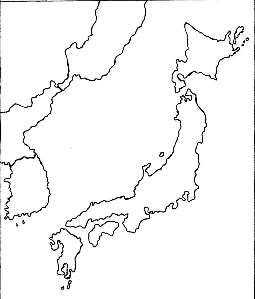 graphic relating to Printable Maps of Japan named Japan Map Drawing at  Totally free for unique employ the service of