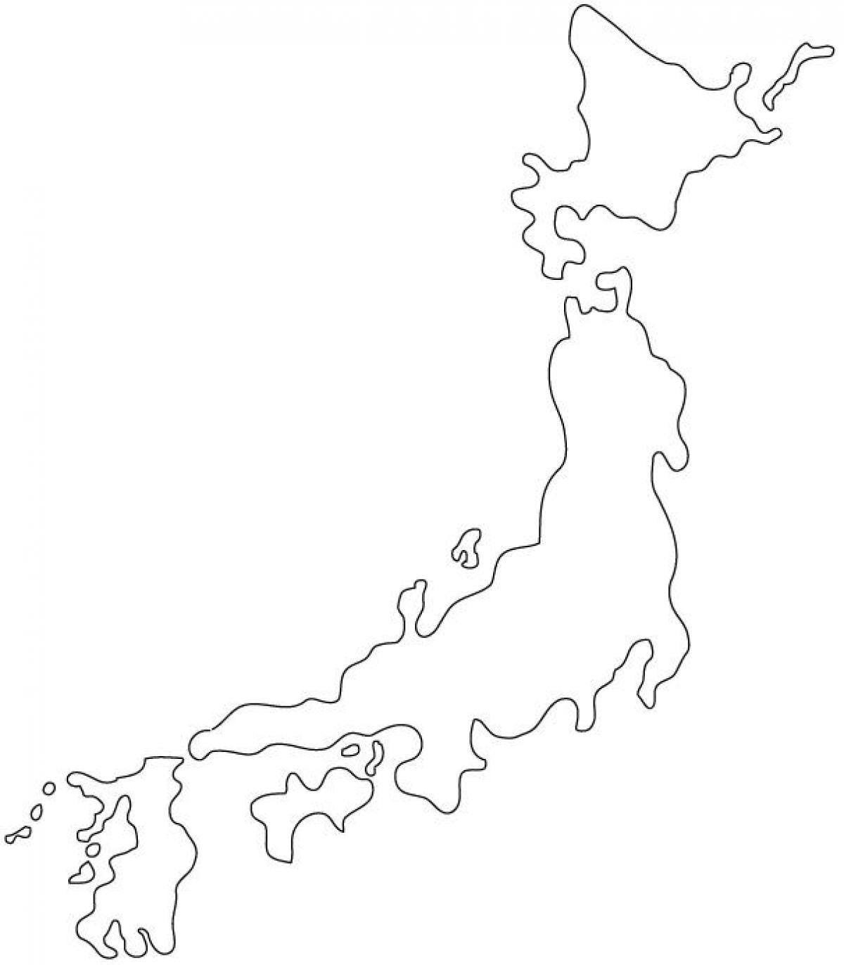 1200x1372 Japan Map Silhouette