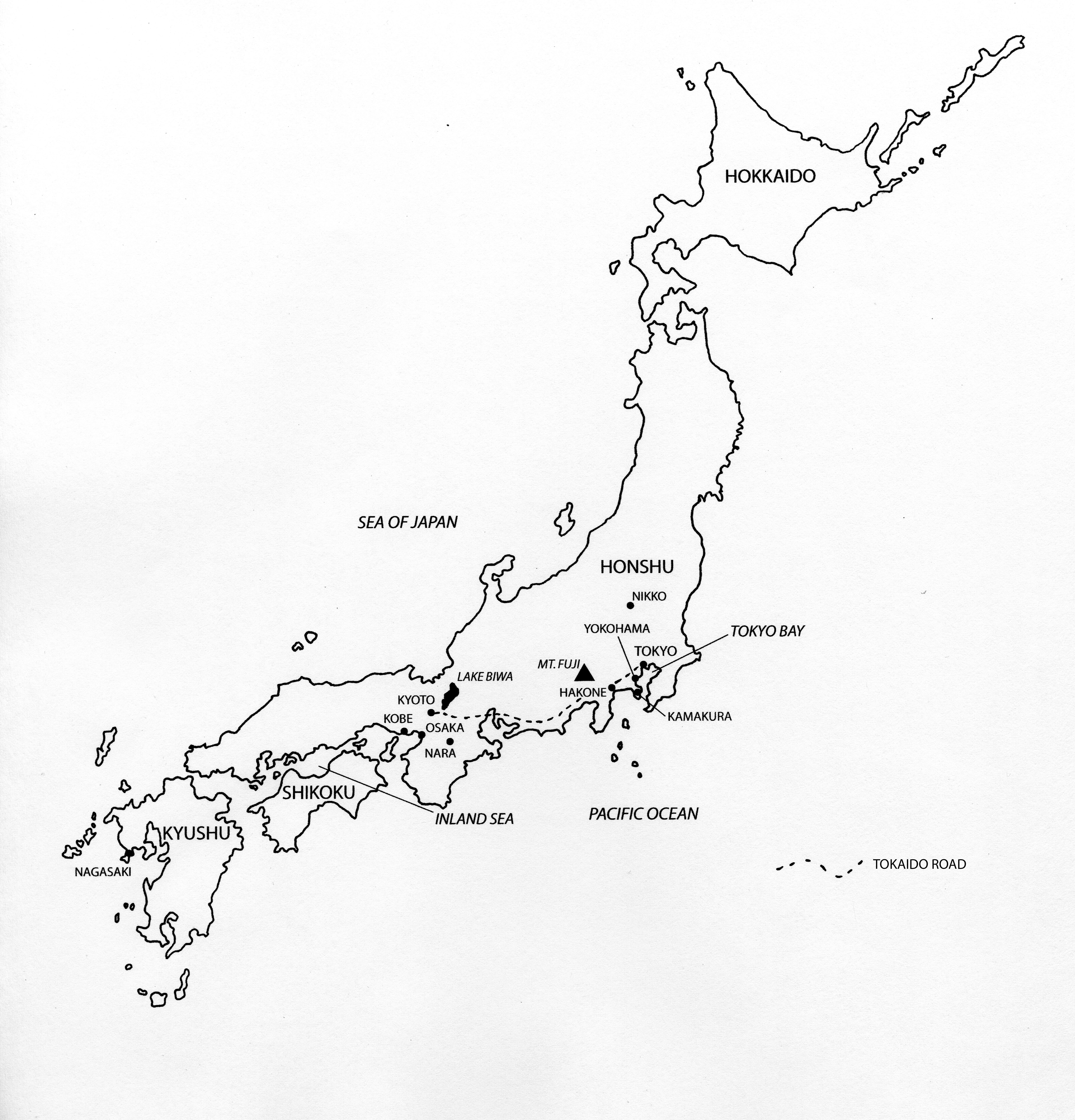 6773x7057 Map Of Japan Felice Beato In Japan