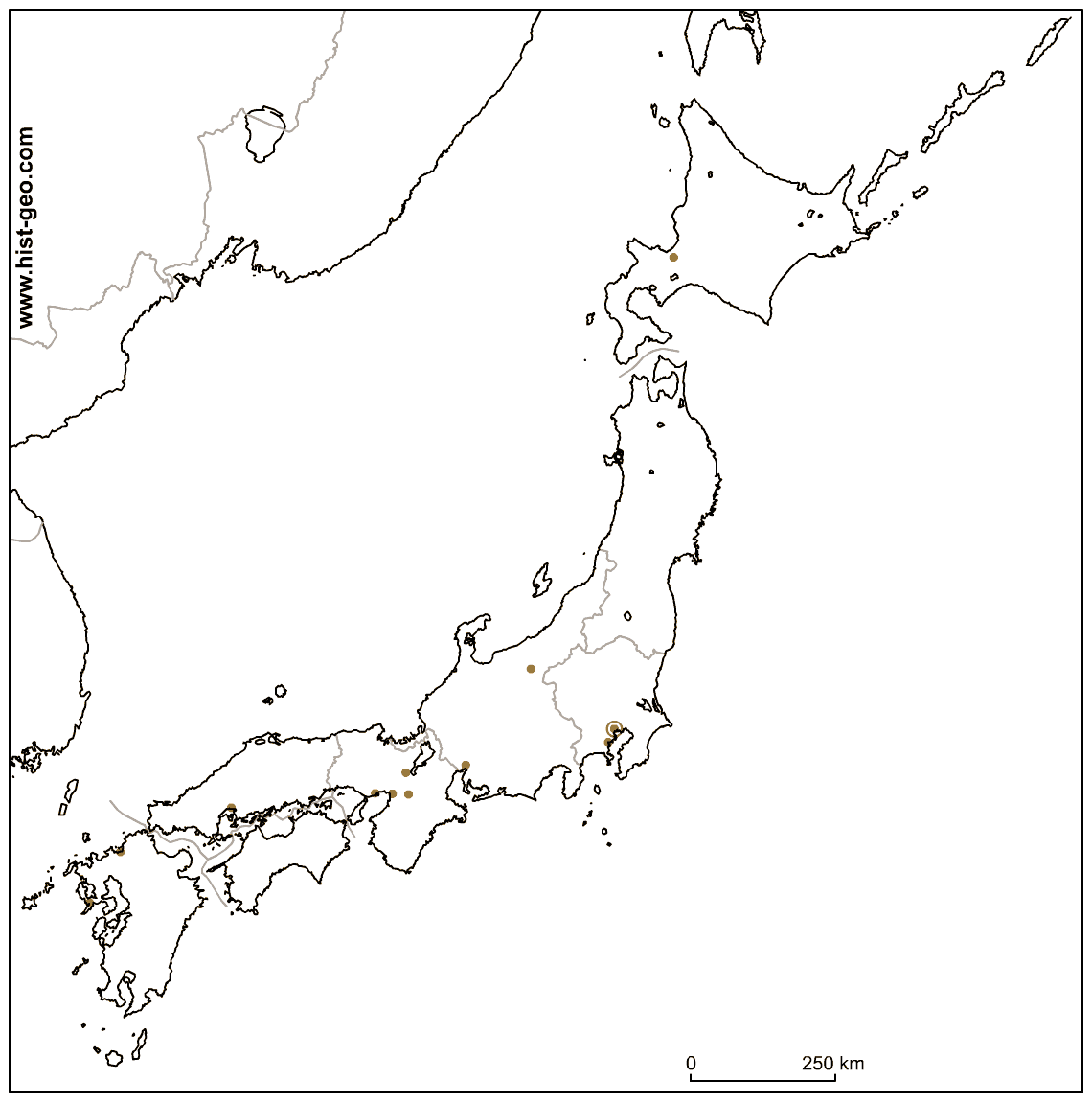 1140x1150 Collection Of Blank Maps Of Japan