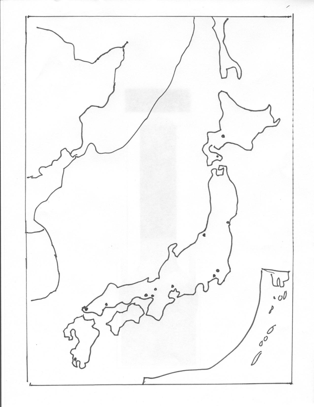 Japan Map Drawing at GetDrawings.com | Free for personal use Japan ...
