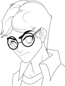 230x302 How To Draw Anime Harry Potter, Harry Potter, Step By Step, Anime