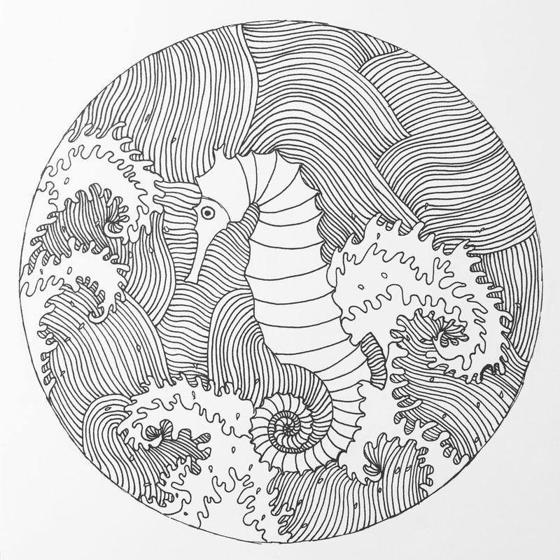 800x800 Japanese Inspired Drawings