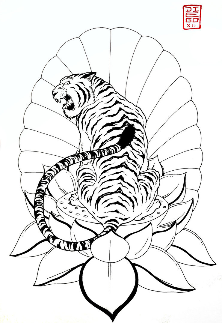 741x1077 Japanese Tiger By Zetas Art