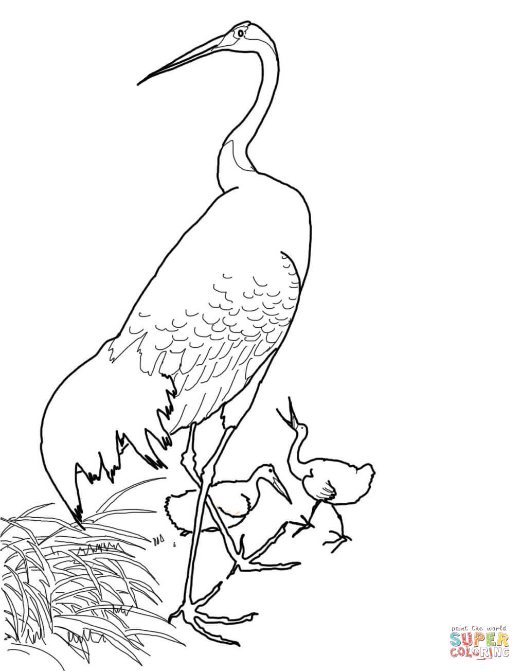 1013x1304 Japanese Red Crowned Crane By Ohara Koson Coloring Page Free