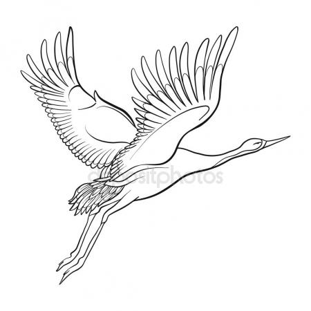 450x450 Oriental White Stork Stock Vectors, Royalty Free Oriental White