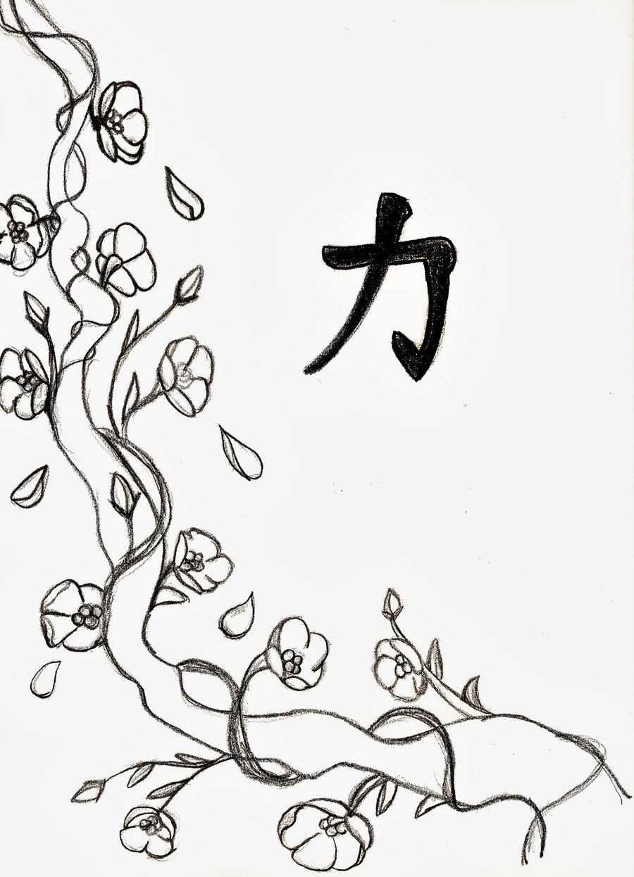 900x1246 Cherry Blossom Line Drawing Branding Cherry