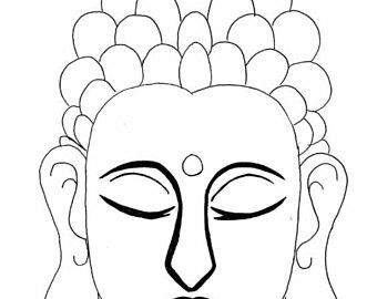 340x270 Buddha Drawing Etsy