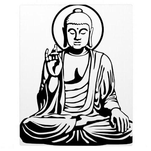 512x512 Young Buddha No 1 Black White Photo Plaques