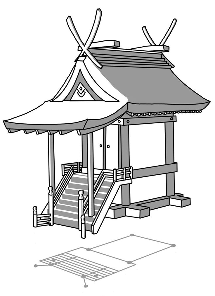 Japanese Building Drawing