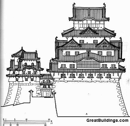 435x420 Great Buildings Drawing