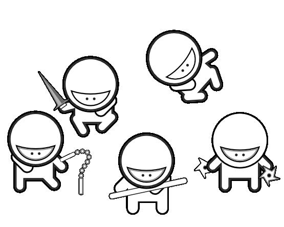 555x444 Cartoon Ninja Coloring Pages