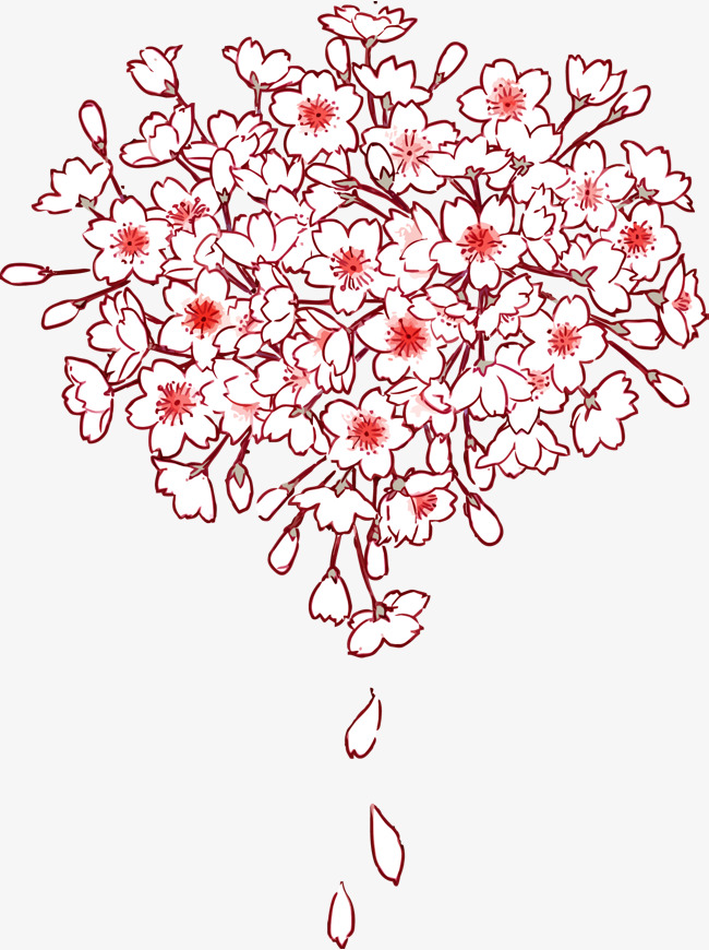 650x870 Vector Cherry Blossoms, Pink, Cherry Blossoms, Japan Png
