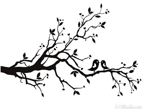 493x376 Cherry Blossom Tree Clipart Black And White