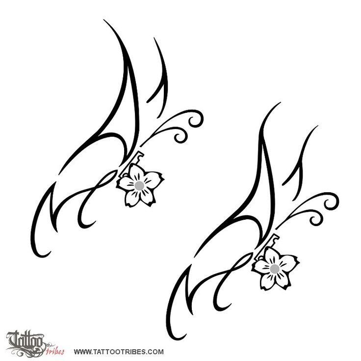 736x736 Drawn Cherry Blossom Letter Art
