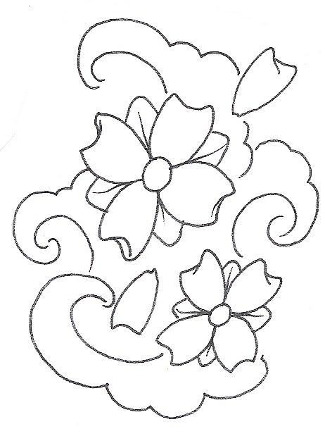 462x619 Drawn Cherry Blossom Old School