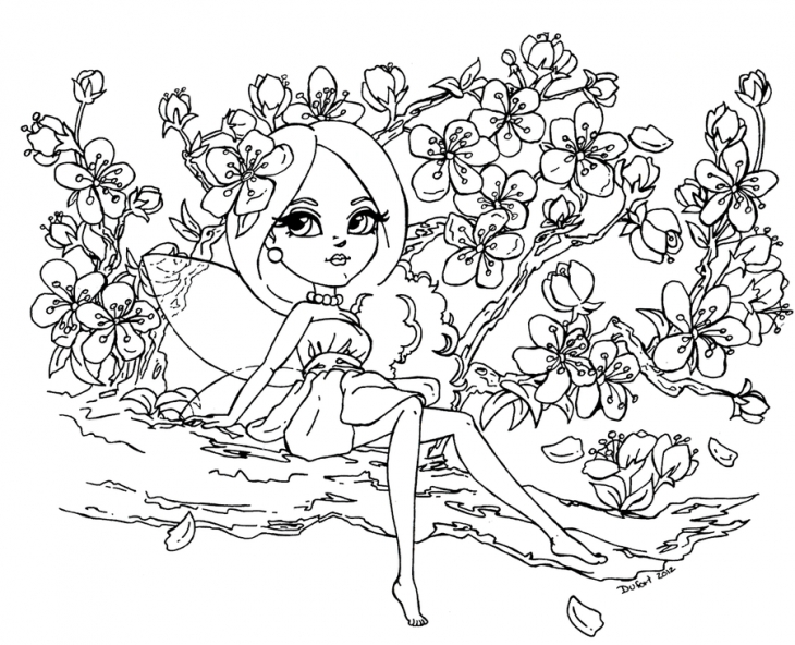 730x592 Japanese Cherry Blossom Tree Coloring Page Japanese Cherry Blossom