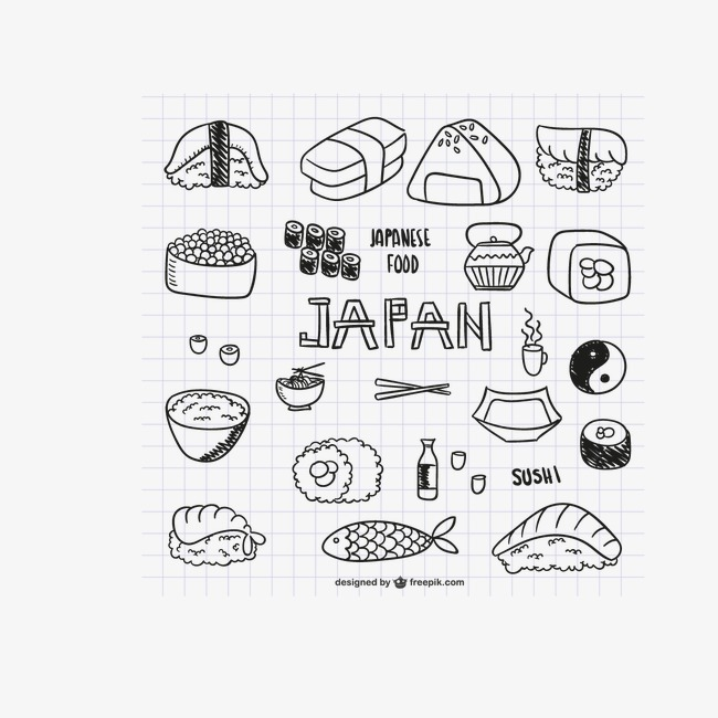 650x650 Delicious Japanese Food Vector Material Downloaded,, Sushi