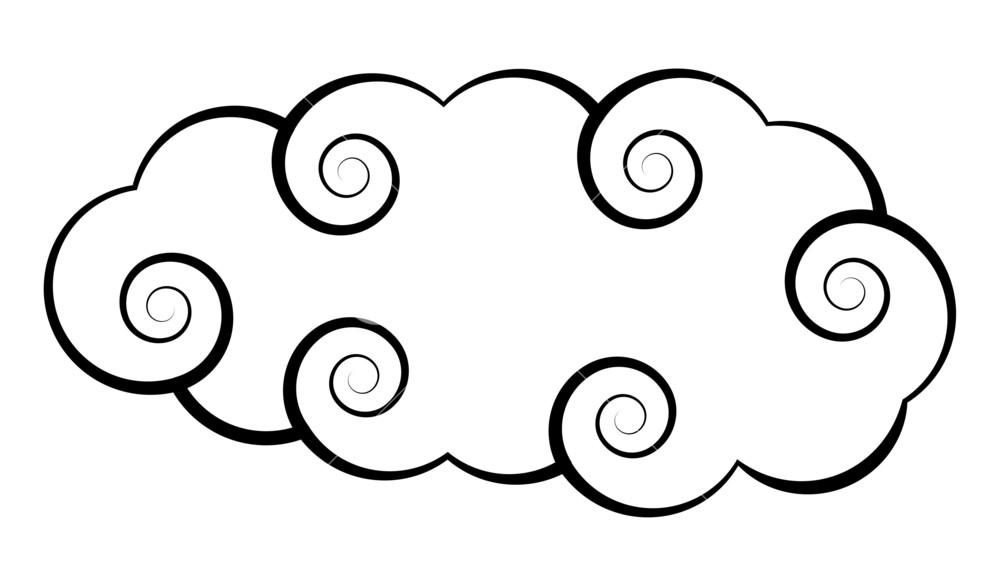1000x586 Japanese Cloud Design Royalty Free Stock Image