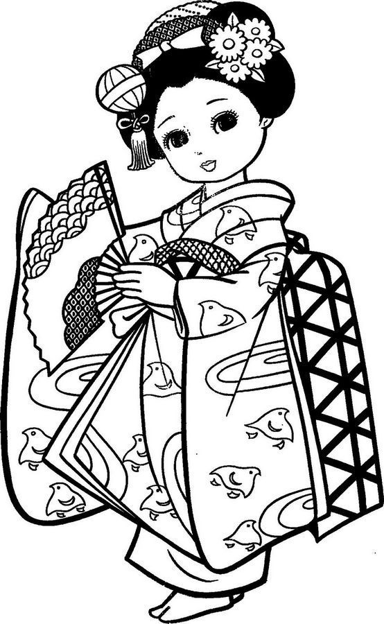 554x900 Japanese Clipart Black And White