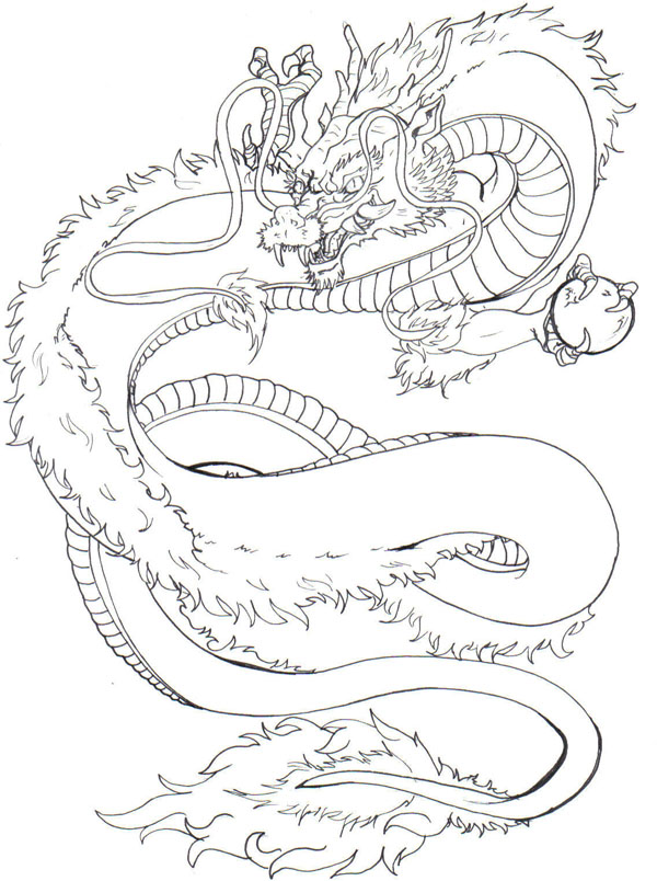 600x804 Japanese Dragon By Demonshuriken87