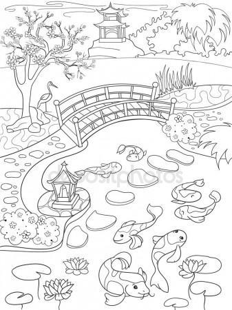 337x450 Nature Of Japan Color Book For Children Cartoon Illustration