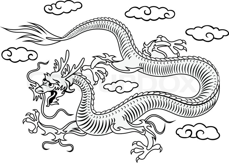 800x572 Oriental Dragon Stock Vector Colourbox