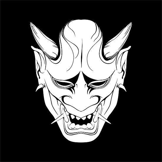 550x550 Image Result For Oni Mask Vector Black And White Neo Japanese