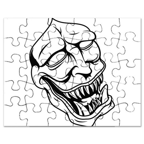 460x460 Japanese Demon Or Oni Puzzles, Japanese Demon Or Oni Jigsaw Puzzle