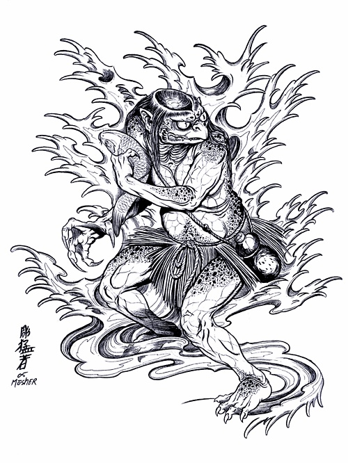 japanese demon mask drawing at free for personal use japanese demon mask. Black Bedroom Furniture Sets. Home Design Ideas