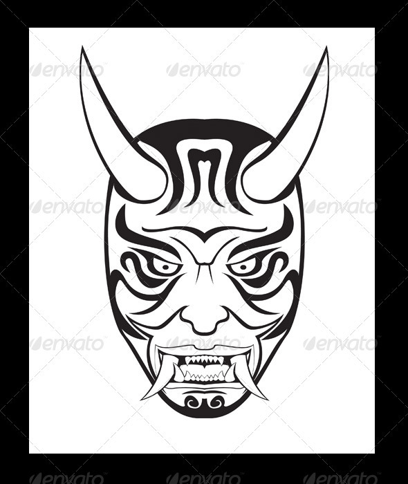 590x700 Oni Mask Illustration By Doddy77 Graphicriver
