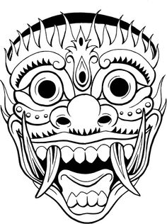 236x316 Collection Of Japanese Bali Mask Tattoo Design