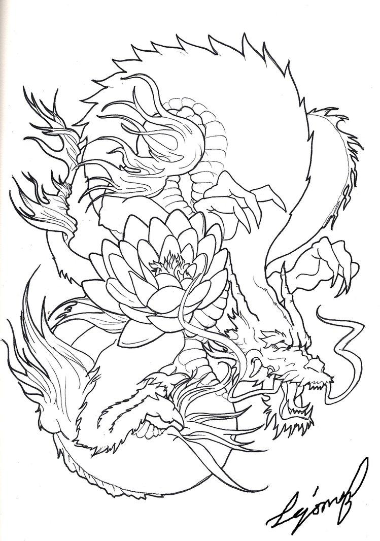 749x1066 Japanese Dragon By Drito
