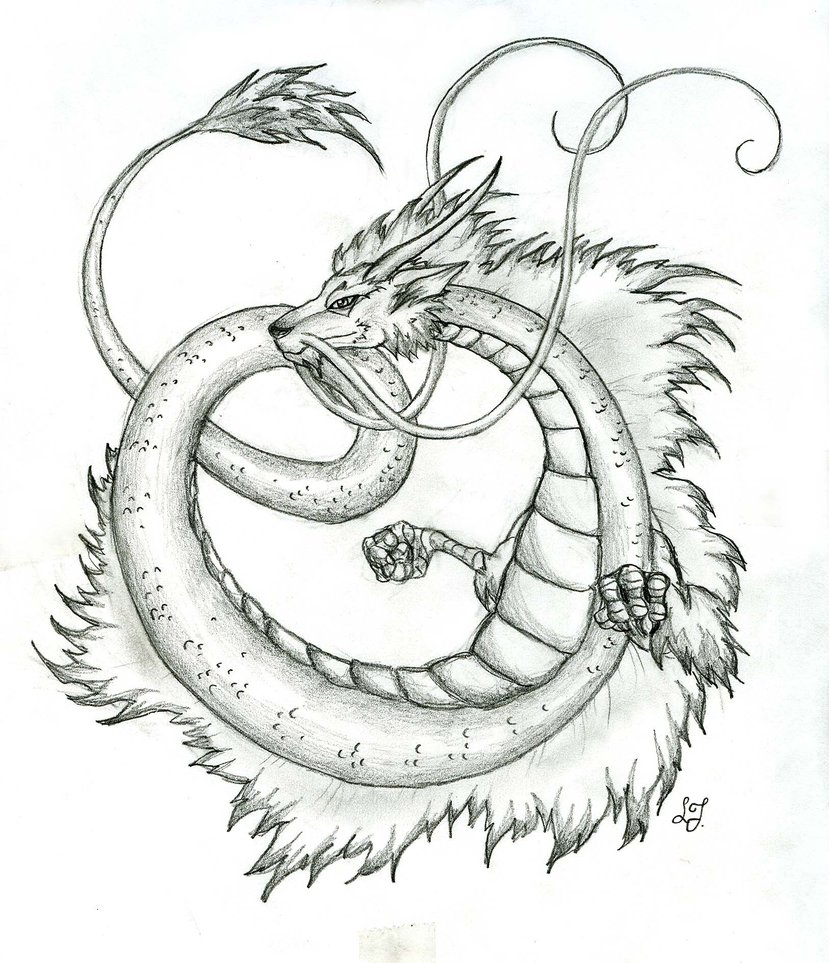 829x963 Japanese Dragon By Lizzy23