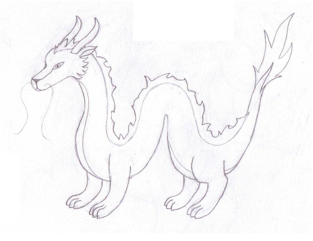 1018x785 Japanese Ryu Dragon Sketch By Ralimon