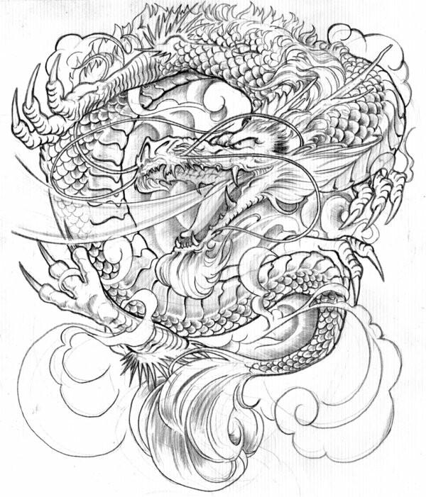 600x701 Japanese Dragon Tattoos That I Like Japanese