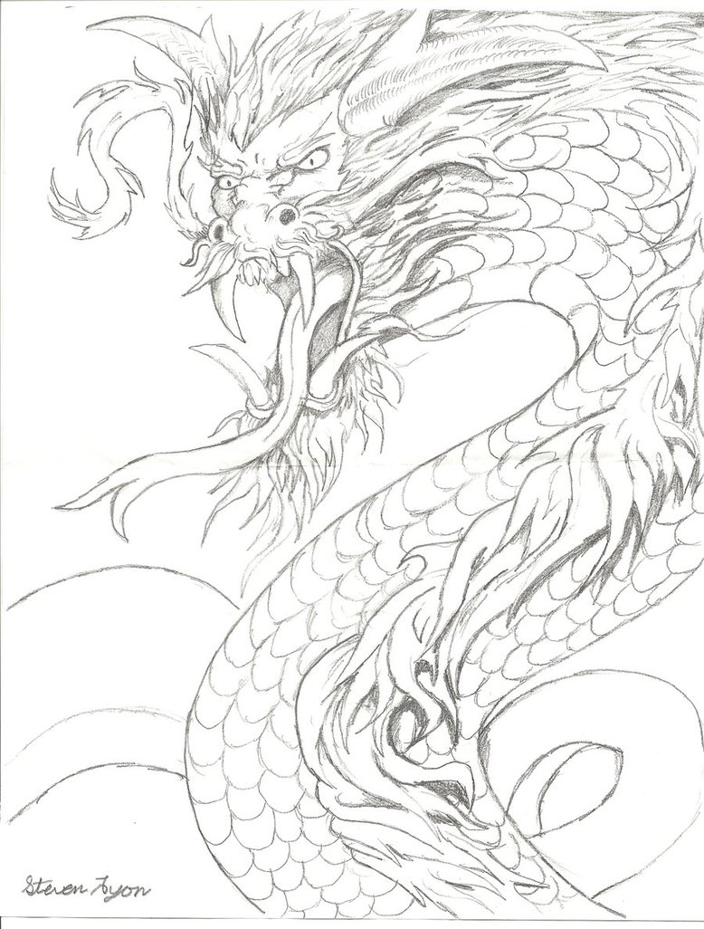 778x1026 Japanese Style Dragon By Monsterking777