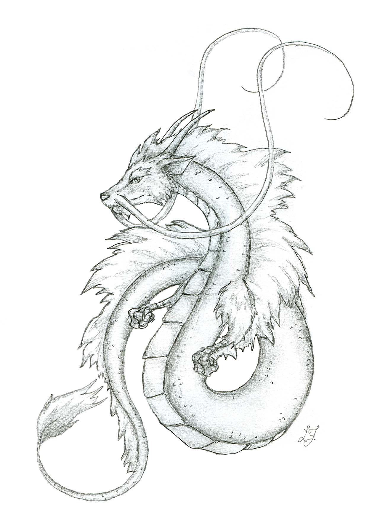1256x1764 Small Japanese Dragon By Lizzy23