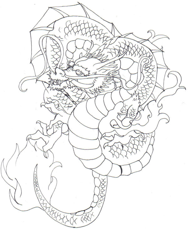 600x733 Go Back Gt Gallery For Gt Japanese Drawings Of Dragons Japanese