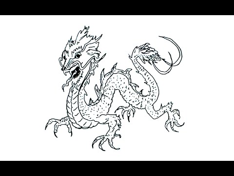 480x360 How To Draw A Japanese Dragon