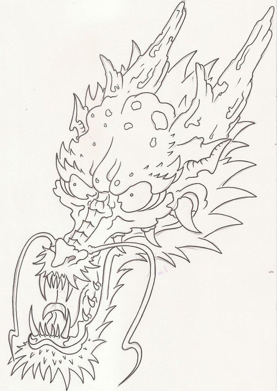 900x1269 Dragon Head By Laranj4
