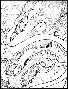 236x309 Drawn Chinese Dragon Head