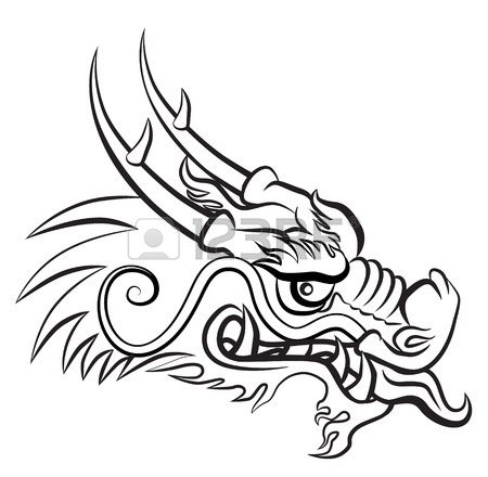 450x440 Evil Dragon Head. Artwork Inspired With Traditional Chinese